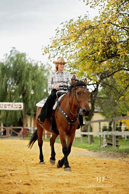 Jazda konna w stylu western.