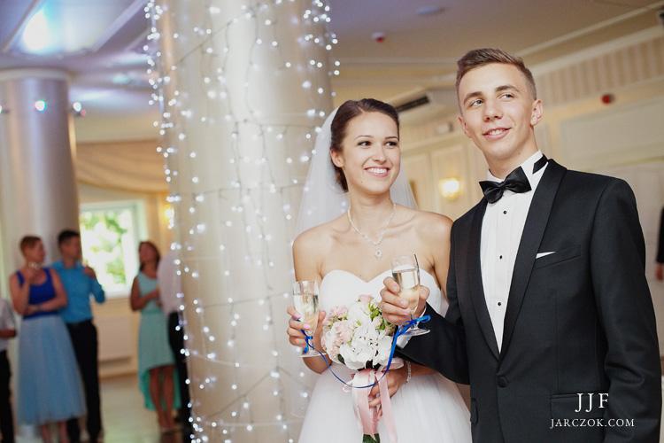 Fotografie z przyjęcia weselnego w bielskim Hotelu Na Błoniach.