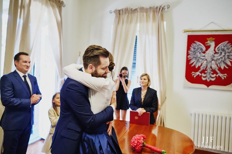Polski Konsulat w Rzymie, sala ślubów.