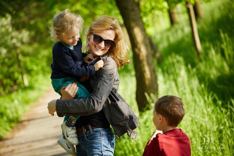 Portrety rodzinne na łonie przyrody.
