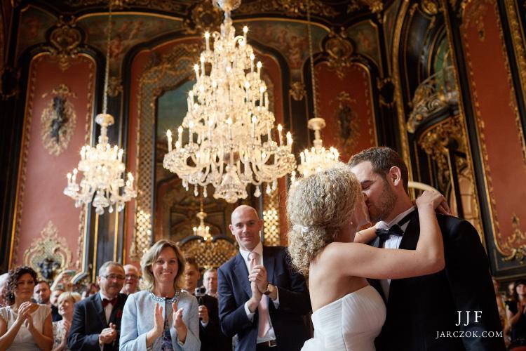 Zamek w Pszczynie - ślub cywilny w Sali Lustrzanej.