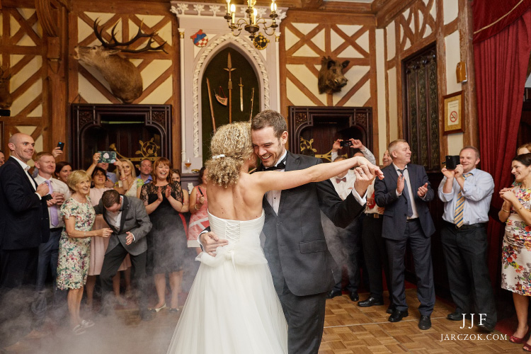 Przyjęcie weselne w Zameczku Myśliwskim w Promnicach koło Tychów.