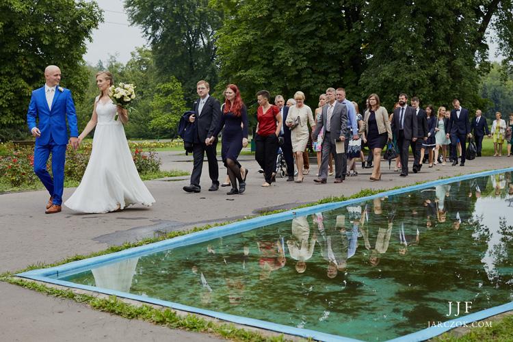 Ślub plenerowy w Parku Śląskim w Chorzowie.