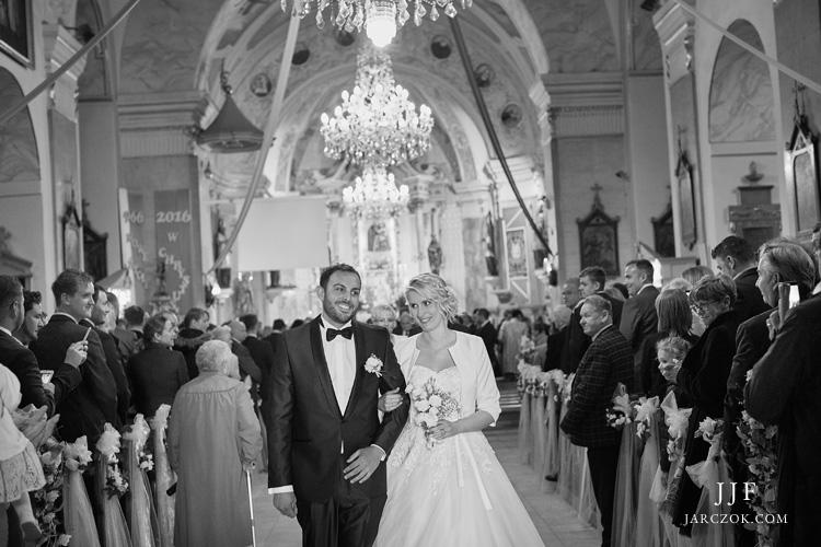 Kościół w Andrychowie, ceremonia ślubu.