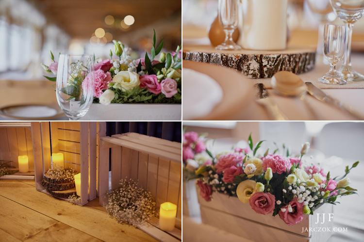 Karczma Kocierz - dekoracja sali weselnej.