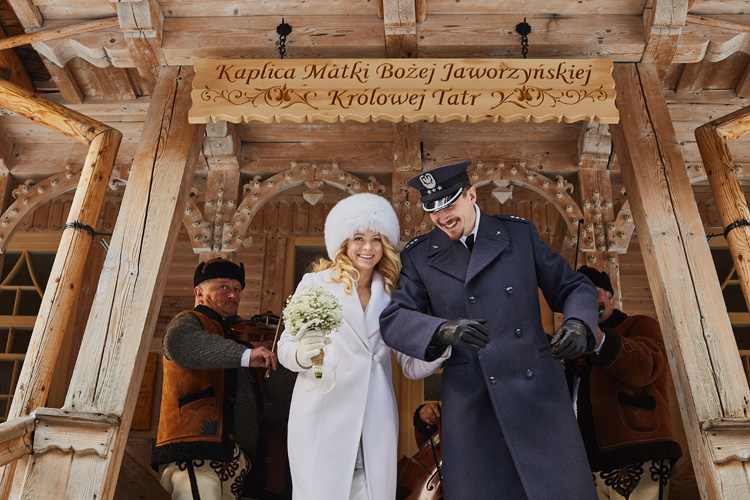 Ślub w Tatrach w sanktuarium na Wiktorówkach.