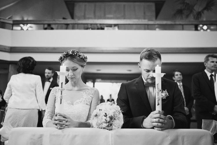 Fotografie ze ślubu kościelnego w Żywcu.