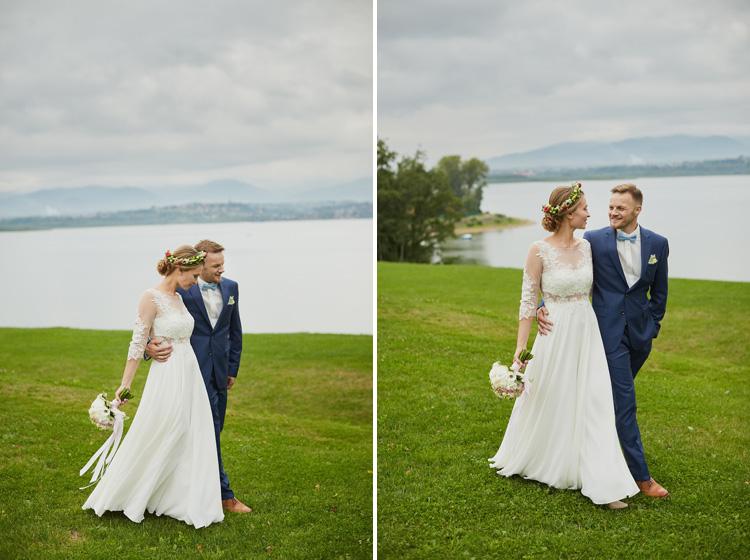 Sesja ślubna na terenie Laguny w Żywcu - zdjęcie drugie.