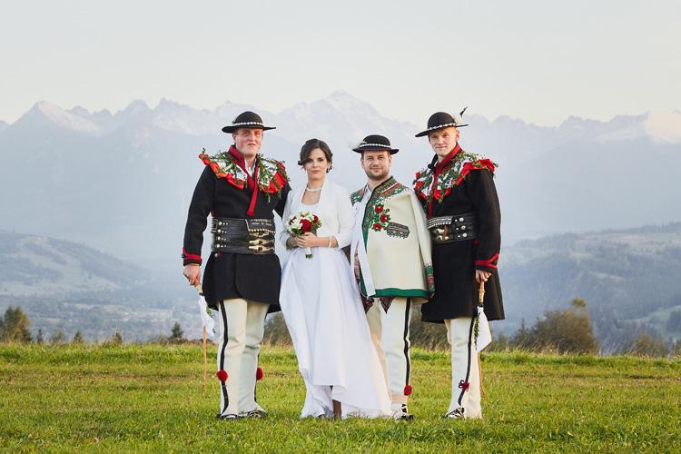 Tradycyjne góralskie wesele na Podhalu.