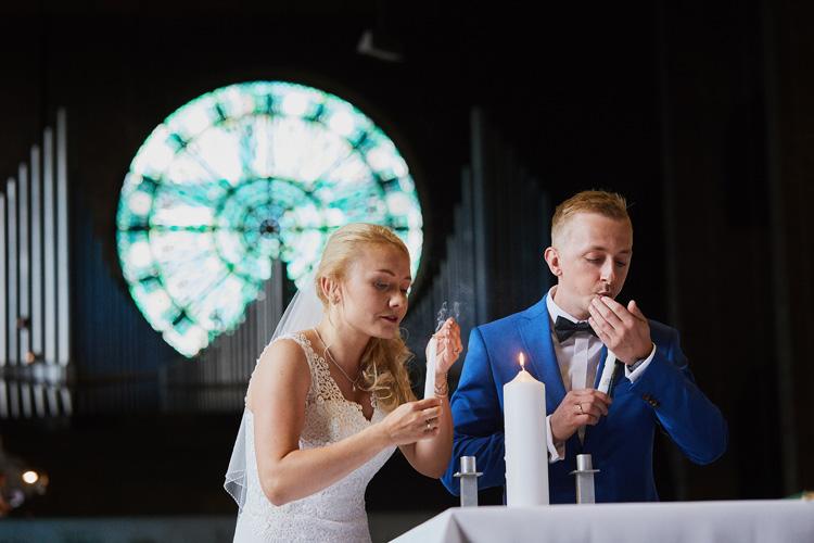 Ślub w parafii kościele świętego Józefa w Zabrzu.