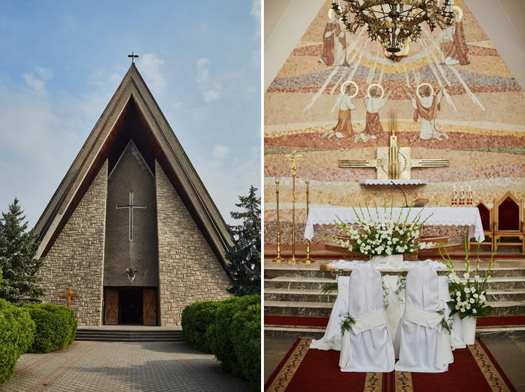 Parafia św. Katarzyny w Cięcinie - dekoracje ślubne.