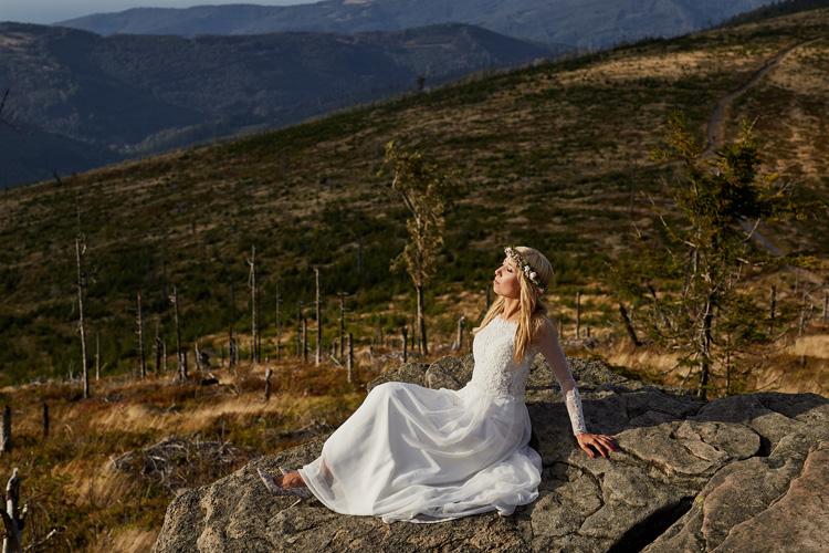 Plener ślubny w górach.