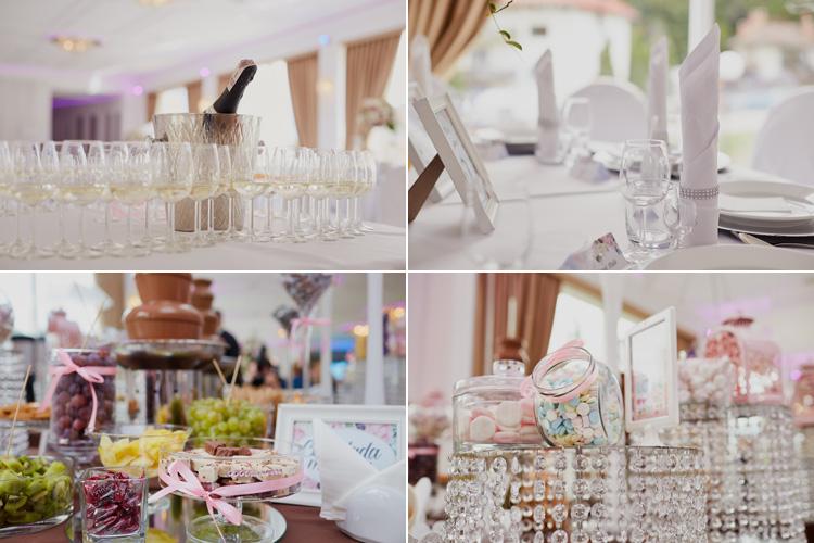 Sala bankietowa Romeo i Julia ozdobiona i przygotowana na uroczyste wesele.